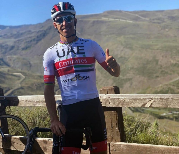 The UAE Team Emirates will be heading to Spain for the Vuelta Burgos (2.Pro) which runs from July 28 to Aug. 1. The team is seen training at Sierra Nevada.