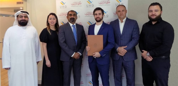 A delegation from the Ukrainian Business Council (UBC), led by Chairman Denis Bandura, signed an MoU for business cooperation with UAQ FTZ to tap the potential of the Free Zone for the benefits of the Ukrainian business community in UAE.