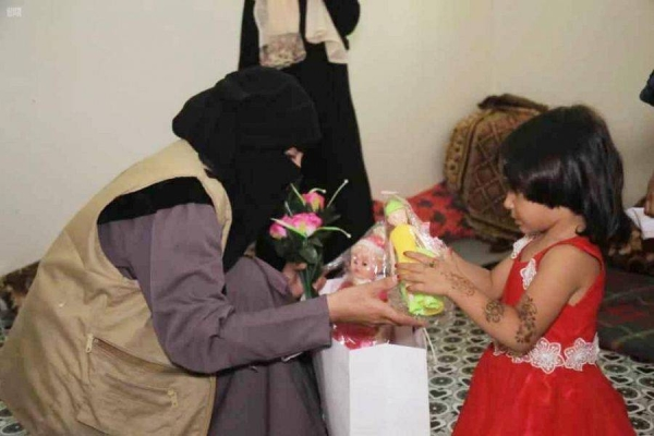The King Salman Humanitarian Aid and Relief Centre organized recreational activities and distributed gifts among orphan children in Yemen on the occasion of Eid Al-Adha. — SPA photos