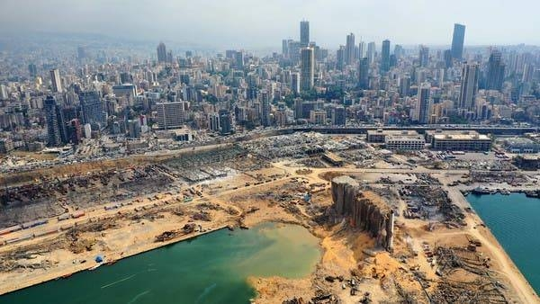 An aerial view of the port of Beirut and the crater caused by the colossal explosion. — Courtesy photo