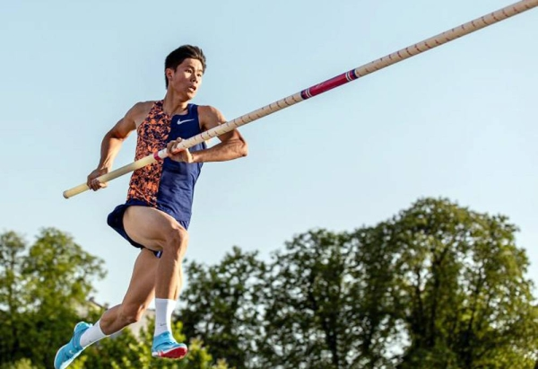 EJ Obiena of the Philippines, Asian gold medalist and record holder and will be vaulting in Formia, Italy.