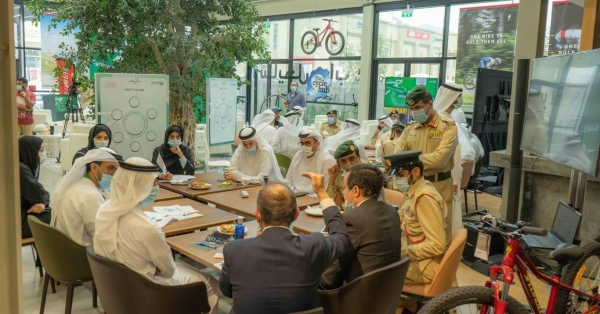 Sheikh Hamdan's announcement came during Dubai Police's 'Cycling is a Lifestyle' Innovation Lab organized at the Jumeirah Cycle Hub. — WAM photo