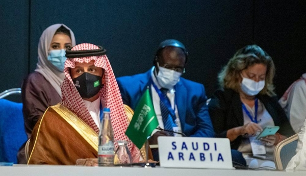 Al-Khateeb leading the Kingdom delegation at the UNWTO's Executive Council. — courtesy Ministry of Tourism