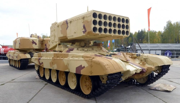 Rosoboronexport (part of the Rostec State Corporation) built tanks and vehicles.
