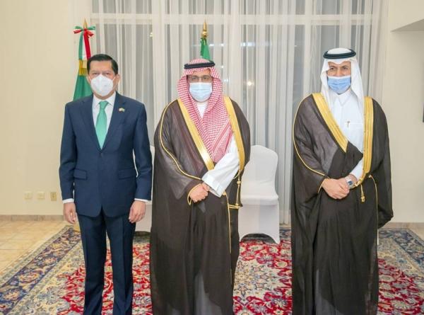 Undersecretary of the Governorate of Riyadh Region, Ambassador Aníbal Gómez-Toledo  with Dr. Faisal Bin Abdulaziz Al-Sudairy and the Chief of Protocol of the Ministry of Foreign Affairs Dr. Abdulaziz Alrgabi.