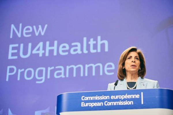 File photo of the EU4Health program — the EU's response to COVID-19.