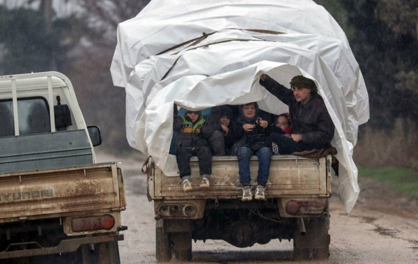 Syrian families sought safety in Afrin in January 2020, in north rural Aleppo governorate, after fleeing conflict in Idlib. — courtesy UNICEF/Khalil Ashawi