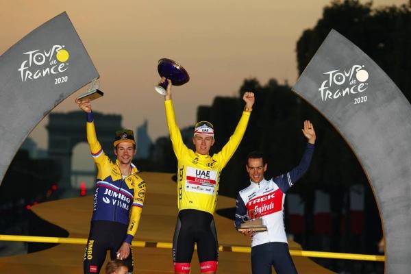 Tadej Pogacar, the youngest Tour de France champion of the 21st century.