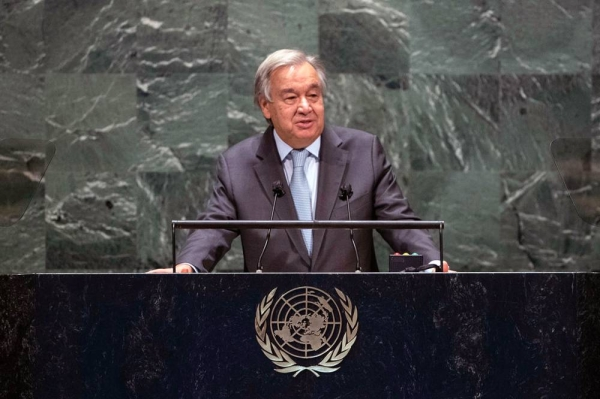 UN Secretary-General António Guterres addresses the General Debate of the 75th session of the UN General Assembly. — courtrsy UN Photo/Eskinder Debebe