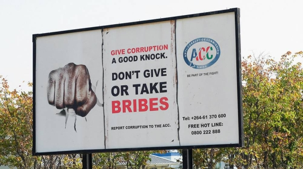Anti-corruption sign in Namibia. — courtesy World Bank/Philip Schuler