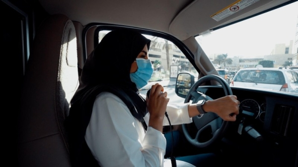 Sara Al-Anizi chose to be an ambulance driver. She is one of the first Saudi females working in the profession.