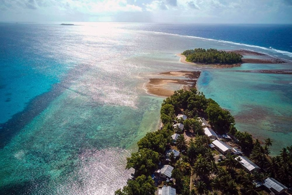 The low-lying island nation, Tuvalu, in the Pacific Ocean is particularly susceptible to higher sea levels caused by climate change. — Courtesy UNDP Tuvalu/Aurélia Rusek