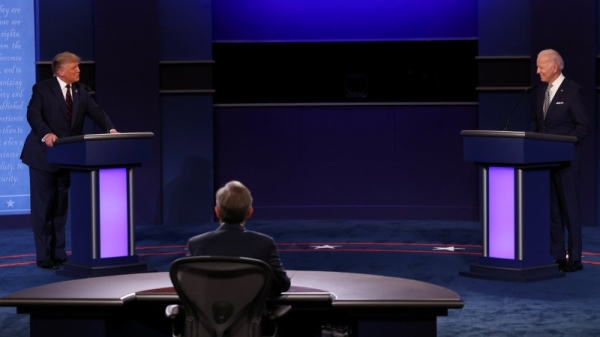 President Donald Trump and Democratic rival Joe Biden during the first presidential debate.