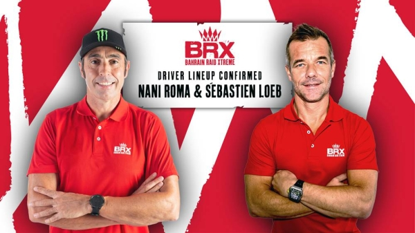 Sebastien Loeb, right, will complete the team's pair of drivers, following the recent news that Spaniard, Nani Roma would drive for BRX.