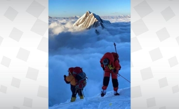 Bahrain's Royal Guard team has recently successfully scaled Mount Manaslu (8,163 meters), the eighth highest mountain in the world, and it is all set able to climb Mount Everest early next year. — BNA photos