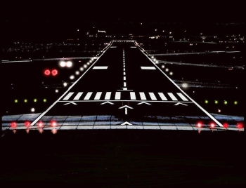 The General Authority of Civil Aviation (GACA) participated in the International Day of Air Traffic Controllers, which falls on the October 20 (Tuesday) of each year. Seen is a Kingdom airport runway at  night with the latest navigational systems.