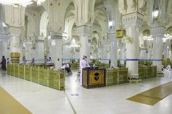 The General Presidency for the Affairs of the Two Holy Mosques has allocated special entrances and a place for prayers on the first floor at the Grand Holy Mosque for people with disabilities. — SPA photos