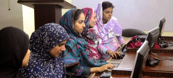 Women in Pakistan learn computing skills. — Courtesy photo