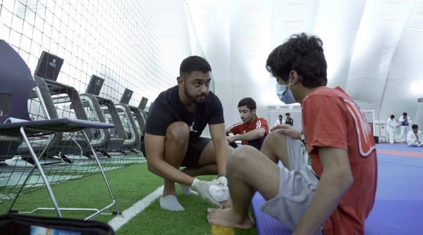 Physiotherapist Hiten Maisuria, 32, has been an important addition to the UAE's jiu-jitsu team's technical staff,