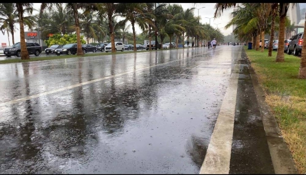 Moderate rains was experienced in most parts of Jeddah, the Bride of the Red Sea, on Saturday.