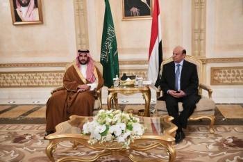 Saudi Arabia's Deputy Defense Minister Prince Khalid Bin Salman received Yemen's President Abed Rabbo Mansour Hadi on Wednesday.