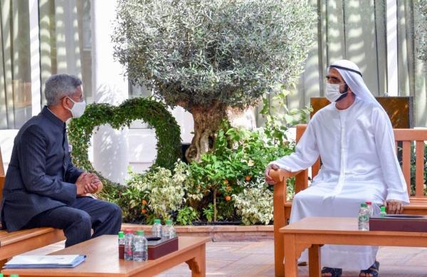 Sheikh Mohammed Bin Rashid Al Maktoum, vice president, prime minister and ruler of Dubai, on Sunday met with Indian Minister of External Affairs Subrahmanyam Jaishankar,