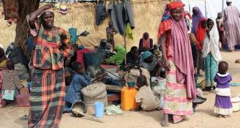 Internally displaced persons at a camp in Maiduguri, in Borno state, northern Nigeria. — courtesy OCHA/Leni Kinzli