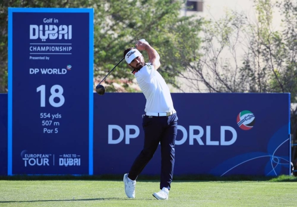 Rozner in action at the Golf in Dubai Championship presented by DP World.