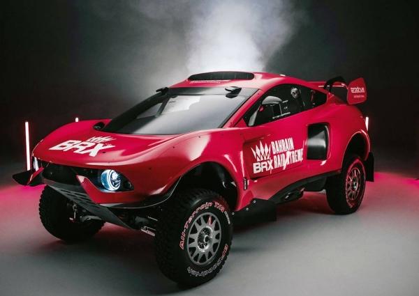Bahrain Raid Xtreme reveals its striking racing red livery.
