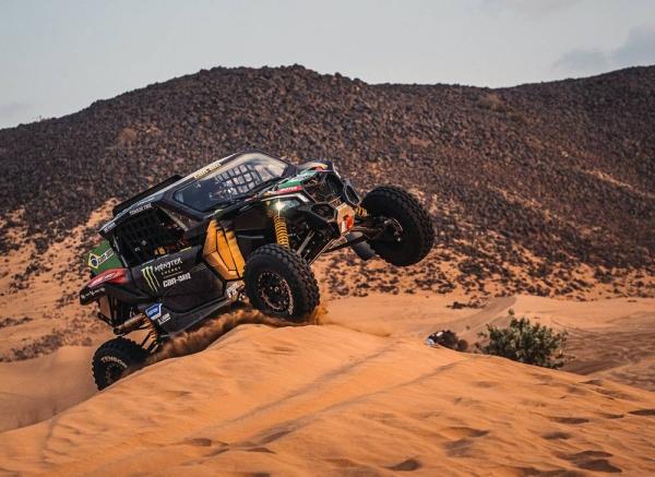 Austin Jones at his Dakar shakedown.