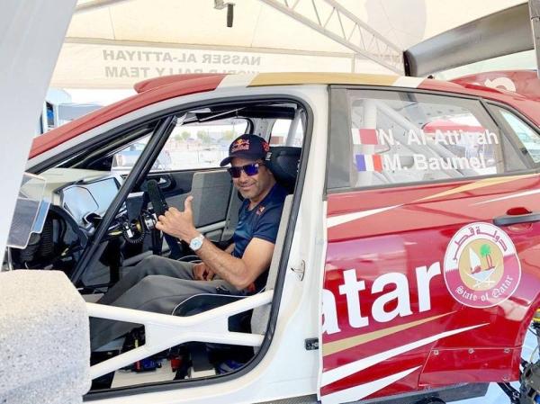 Nasser Saleh Al-Attiyah with his Volkswagen Polo GTi R5.