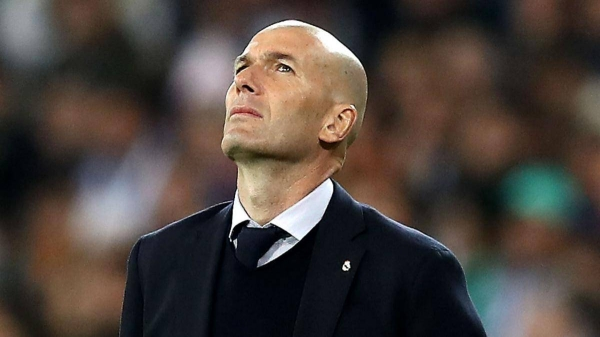File photo of Real Madrid coach Zinedine Zidane.