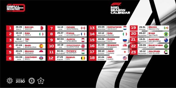 New dates confirmed for Saudi Arabia's debut F1 grand prix