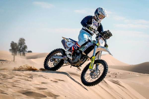 Saudi Arabia's Yazeed Al Rajhi — aiming for the Dubai Baja cars title.