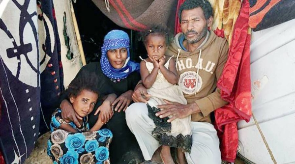 File photo shows displaced from the city of Taiz, a family lives in a tent in Al Turah, Yemen. — courtesy UNOCHA/Giles Clarke