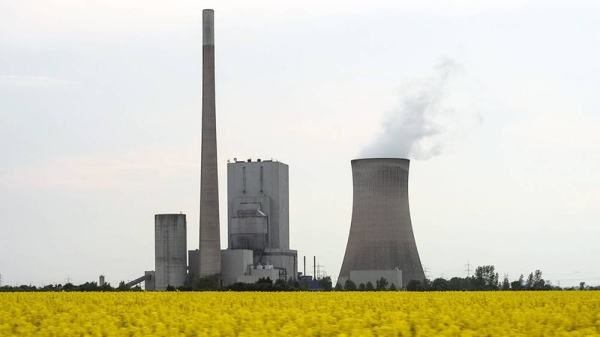 Coal-fueled power plant, Germany.