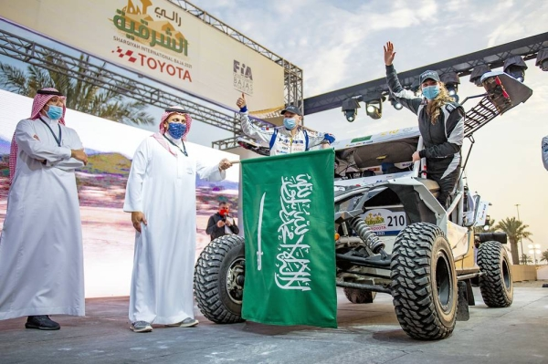 The Sharqiyah International Baja Toyota gets under way with a 10km qualifying stage in the Half Moon Bay area of the Eastern Province on Thursday afternoon, following a ceremonial start on Wednesday.