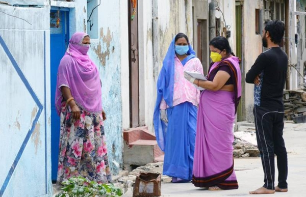 India's coronavirus infections rose by 346,786 overnight, the Health Ministry said on Saturday.