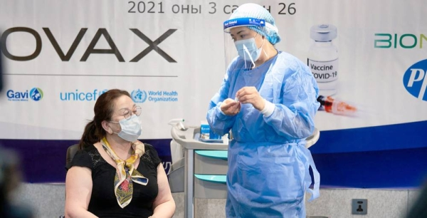 Mongolia initially received over 25,000 doses of the COVID-19 vaccine from the COVAX Facility. — courtesy UNICEF/Khasar Sandag