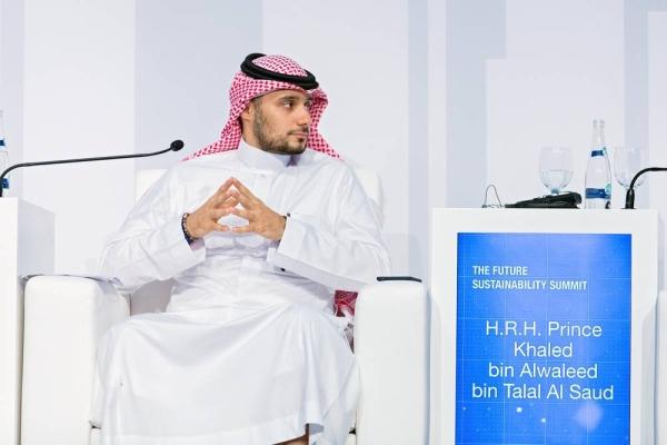 Prince Khaled Bin Alwaleed bin Talal  at the Abu Dhabi Sustainability Week 2019.