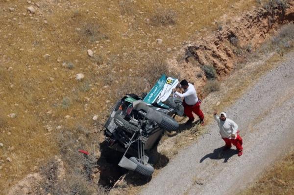 Saleh Al-Saif crashes