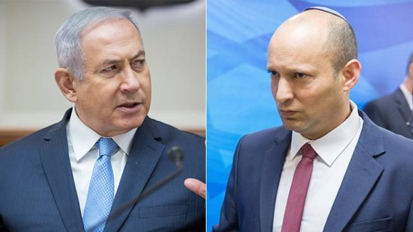 Israeli Prime Minister Benjamin Netanyahu left, and Naftali Bennett, leader of the small right-wing Israeli party Yamina, are seen in this file combination picture. — Courtesy photo