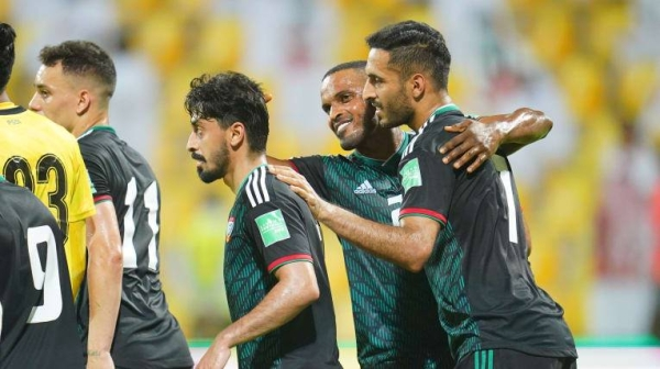 — The United Arab Emirates secured an emphatic 5-0 win against Indonesia in Group G of the Asian Qualifiers for the FIFA World Cup Qatar 2022 and AFC Asian Cup China 2023 on Friday. — Courtesy photo
