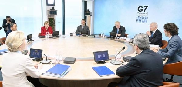 G7 leaders plenary: Building back better from COVID19, Cornwall, UK. — courtesy Karwai Tang/G7 Cornwall 2021