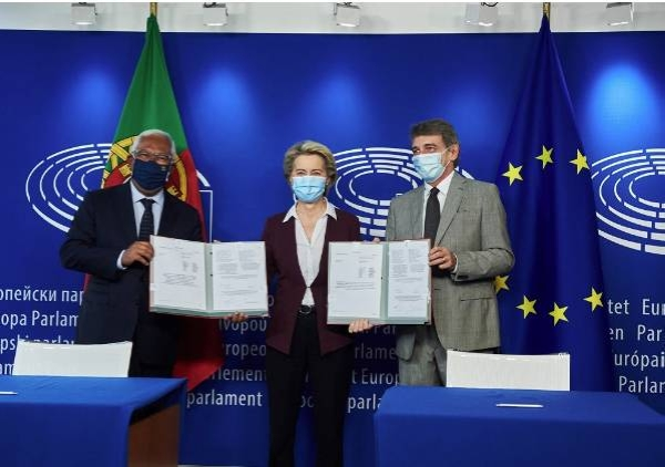 Presidents of the three European Union institutions, the European Parliament, the Council of the EU and the European Commission Monday attended the official signing ceremony for the Regulation on the EU Digital COVID Certificate, marking the end of the legislative process.