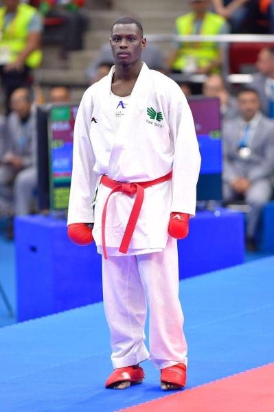 The Saudi karate champion Tariq Hamdi