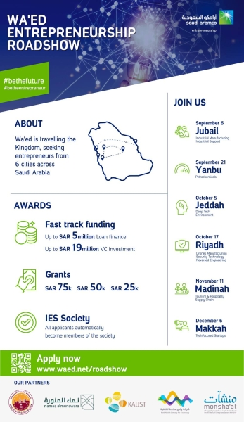 Wa'ed launches nationwide road show to identify, fund next generation of transformative Saudi start-up entrepreneurs