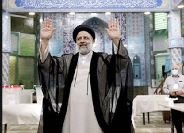 Iran's judiciary chief Ebrahim Raisi officially won the country's presidential election with 17.9 million votes, the Interior Ministry announced Saturday.