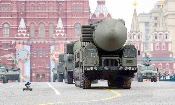 File photo of Russian RS-24 Yars intercontinental ballistic missile systems are seen on the Red Square for the Victory Day parade in Moscow, Russia, May 9, 2019.