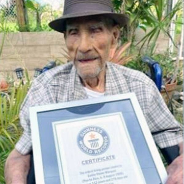 Emilio Flores Márquez is the oldest living man in the world at 112, according to Guinness World Records.